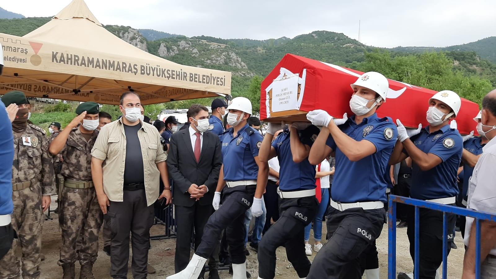 Şehit polis Osman Gül Andırın'da toprağa verildi