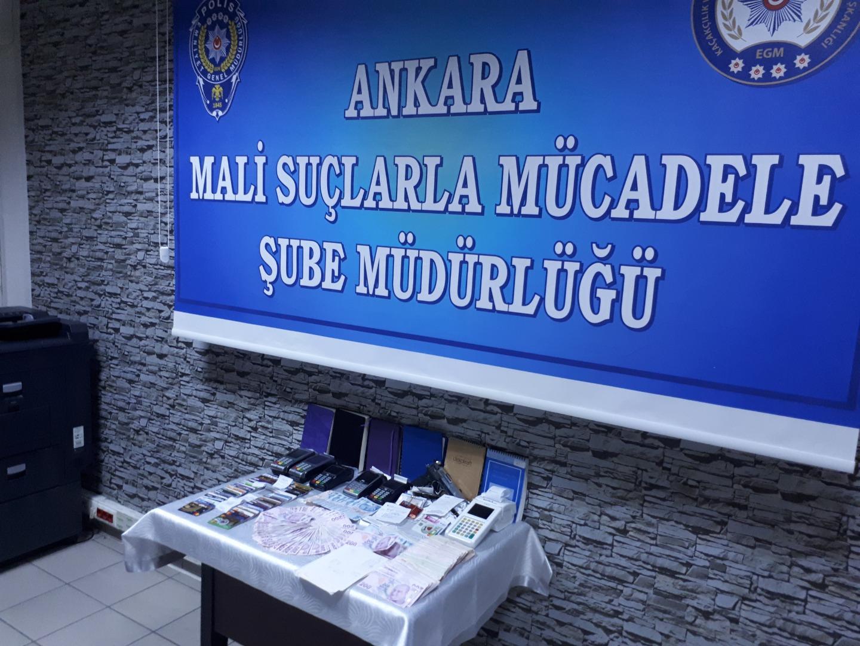 Başkent tefecilerine darbe: 14 kişi gözaltına alındı
