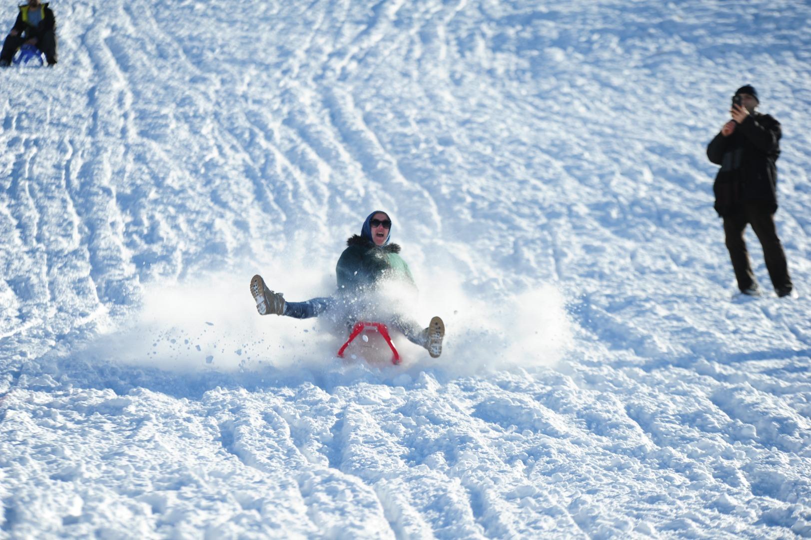 Elmadağ'daki kayak merkezi doldu taştı