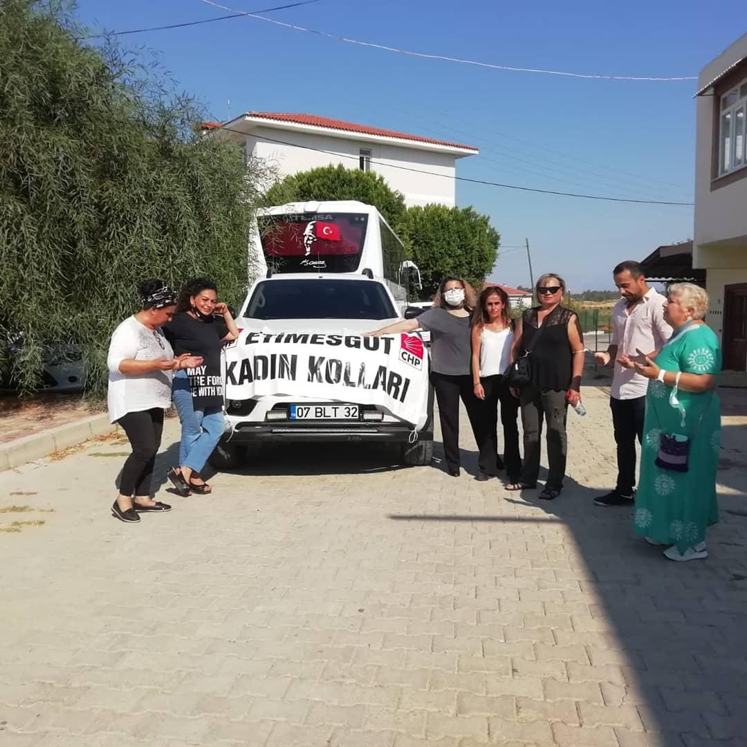 CHP Etimesgut İlçe Kadın Kolları, Mavangatlı Afetzedeleri Yalnız Bırakmadı