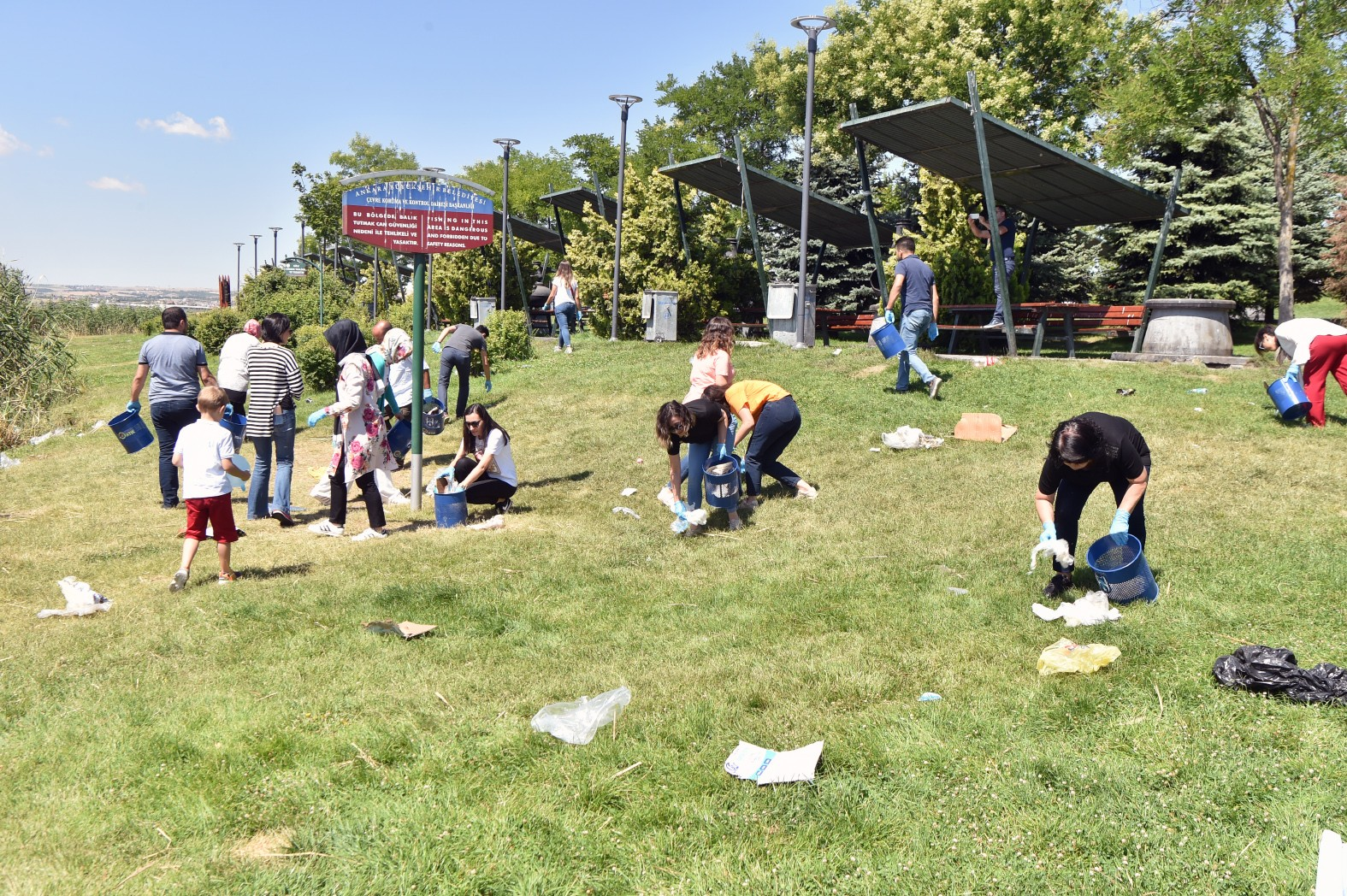 Ankara Büyükşehirden karada ve suda Sıfır Atık Projesi'ne destek
