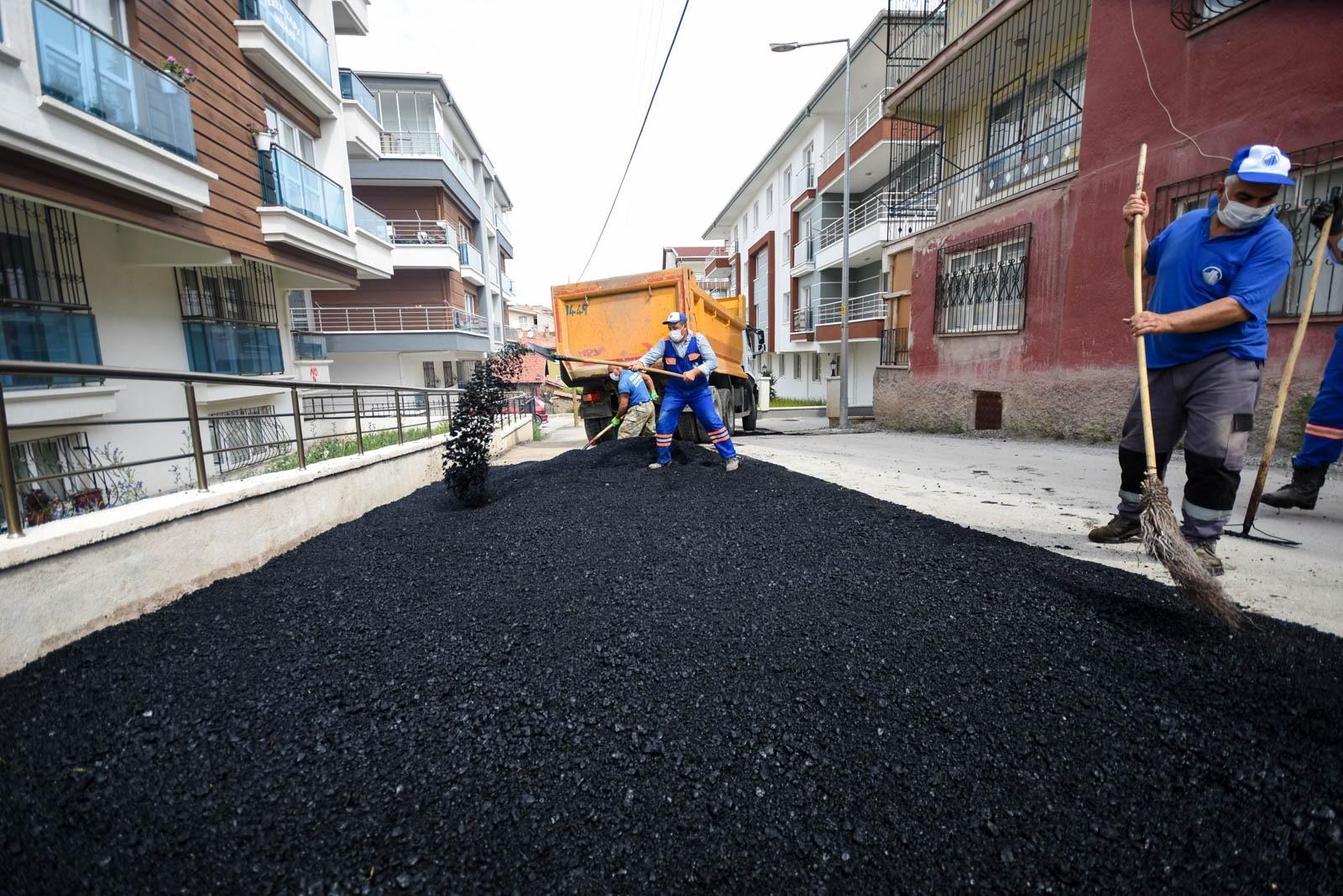 Altındağ'da yollar yenileniyor