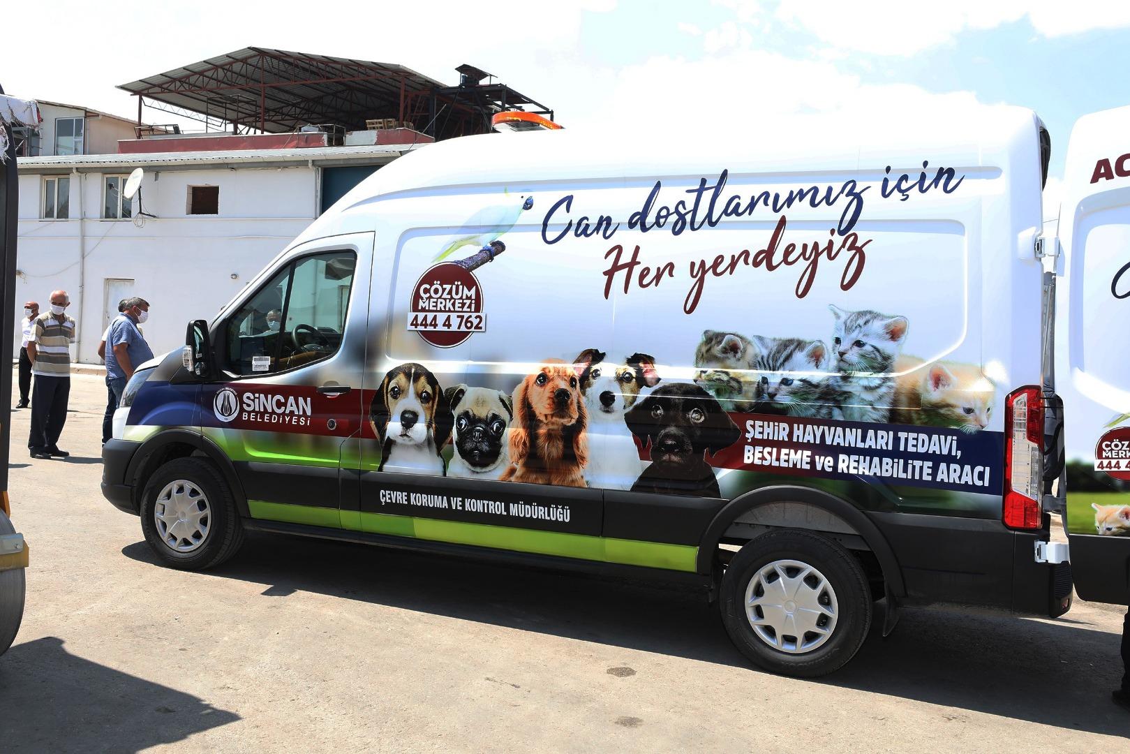 Sokak hayvanları için tam donanımlı ambulans