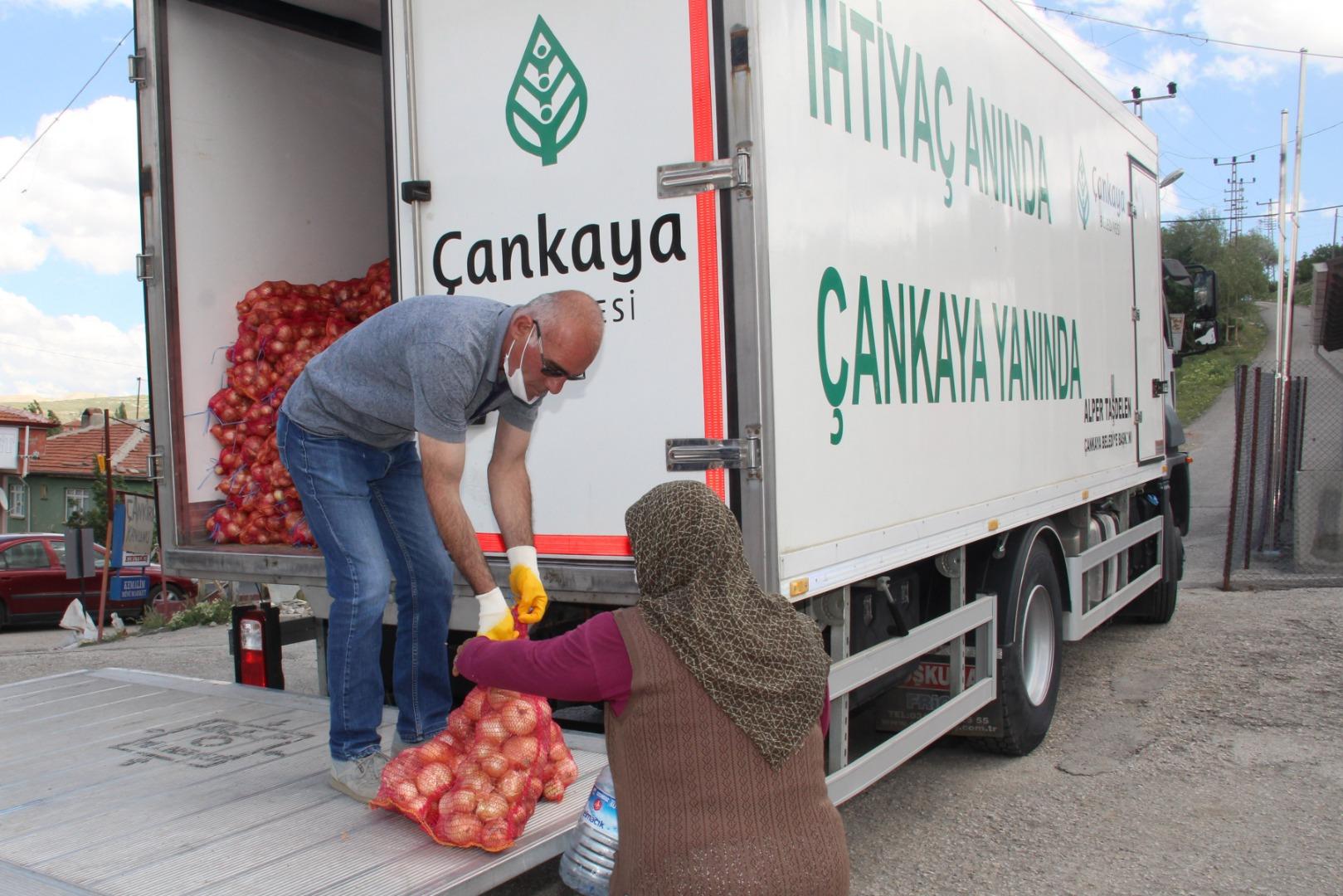 Çankaya Belediyesinden, dar gelirlilere gıda yardımı