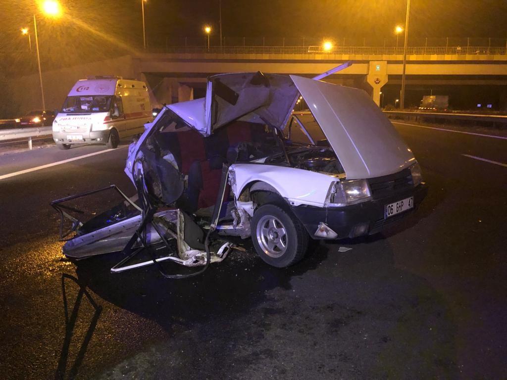 Ankara'da TIR'ın arkadan çarptığı otomobildeki 2 kişi öldü